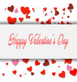 happy valentines day lettering card eps10 vector image vector image