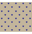 heart polka blue vector image vector image