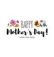 holiday sticker with lettering happy mothers day vector image
