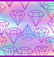 holographic background with crystals seamless vector image