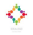 logo design element or icon Abstract multicolor vector image vector image
