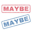 maybe textile stamps vector image vector image