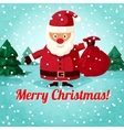 Merry Christmas greeting card - Santa Claus vector image