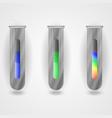 metallic flasks with liquidity vector image vector image