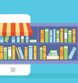 Mobile Service - library of books for read vector image vector image