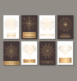 motivational cards golden vector image
