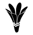nature flower icon simple black style vector image