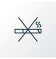 no smoking icon line symbol premium quality vector image