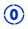 number 0 icon vector image vector image