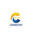 organic chemistry creative emblem vector image