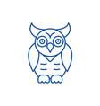 owlwisdom line icon concept owlwisdom flat vector image vector image