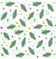 pattern branches spruce and colored circles vector image