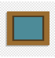picture in wood frame icon cartoon style vector image vector image