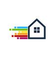 pixel art house logo icon design vector image vector image