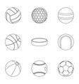 play icons set outline style vector image vector image