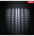 Realistic rubber tires banner vector image vector image