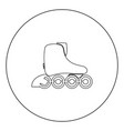 roller skate icon black color in circle vector image