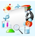 Science realistic frame vector image vector image