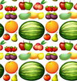 seamless background with fresh fruits vector image vector image