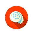 Seashell flat icon with long shadow vector image