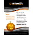 seasonal autumn halloween document template vector image vector image