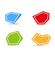 set four color empty icons with shadow on vector image vector image