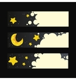 Set of banners with night