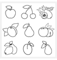 Set of Fruit Linear Icons vector image vector image
