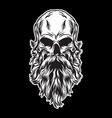 shaggy skull head vector image vector image