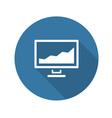 Statistics icon Flat Design vector image vector image
