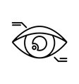 Symbol of Eyetap Augmentation Thin line Icon of vector image
