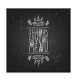 Thanksgiving menu - typographic element vector image vector image