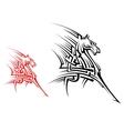Tribal horse mascot vector image