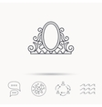 Vintage mirror icon Retro decoration sign vector image vector image