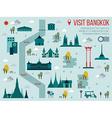 Visit Bangkok vector image