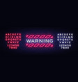 warning neon text danger zone neon sign vector image