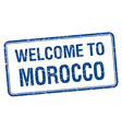 welcome to Morocco blue grunge square stamp vector image vector image