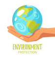world environment day greeting card vector image vector image
