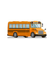 yellow school bus transportation of students and vector image