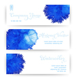 banners with watercolor stain like coral Abstract vector image