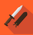 hunter knife flat and cartoon style vector image