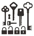 Key Lock vector image