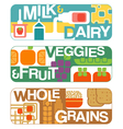 food groups banners vector image