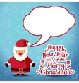 Merry christmas Santa Claus with speech bubble for vector image