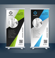 abstract roll up display standee banner template