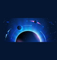 abstract space banner earth and planets vector image vector image