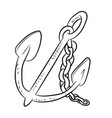 anchor cartoon - line drawn vector image vector image