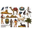 ancient egypt religion god pharaon pyramid mummy vector image vector image
