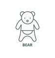 Bear line icon bear outline sign concept