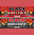 black friday sale flyer background design vector image vector image